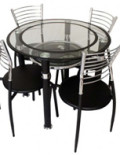 A82--GLASS-TOP-DINING-SET-(4+1)